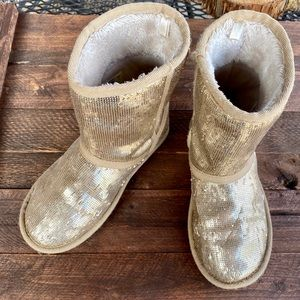 ⚜️Children's Place Gold Glamorous Boots⚜️